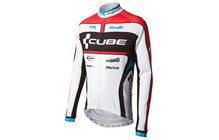 Cube Teamline Chemise manches longues blanc/noir/rouge/bleu